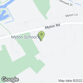 Map of Myton School in Warwick, warwickshire