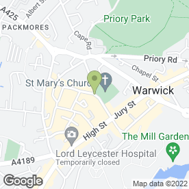 Map of Warwick Independent Schools Foundation in Warwick, warwickshire