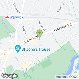 Map of Coten End Primary School in Warwick, warwickshire