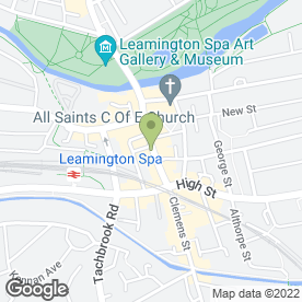 Map of Passion & Pain Tattooing & Body Piercing Studio in Leamington Spa, warwickshire