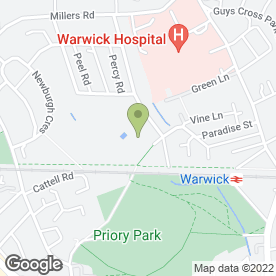 Map of St. Mary Immaculate Catholic Primary School in Warwick, warwickshire