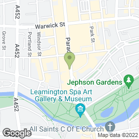 Map of Planet Bong Ltd in Leamington Spa, warwickshire