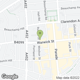 Map of Jojo Therapy in Leamington Spa, warwickshire