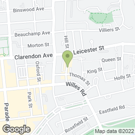 Map of Lansdowne Launderette in Leamington Spa, warwickshire