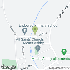 Map of Strandor Roofing Ltd in Mears Ashby, Northampton, northamptonshire