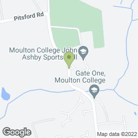 Map of Moulton College Garden Centre in Moulton, Northampton, northamptonshire