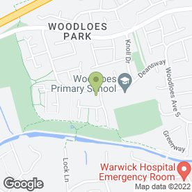 Map of Ridgeway Special School in Warwick, warwickshire