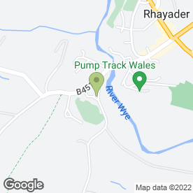 Map of The Triangle Inn in Triangle Cwmdauddwr, Rhayader, powys