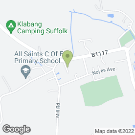 Map of Amies Scaffolding Services in Laxfield, Woodbridge, suffolk