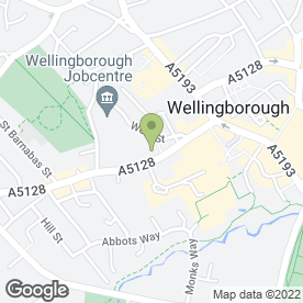 Map of Wellingborough Old Grammarians Association in Wellingborough, northamptonshire