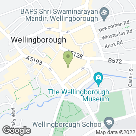 Map of Boots Hearing Care in Wellingborough, northamptonshire