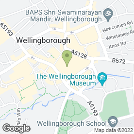 Map of Express Eyebrows in Wellingborough, northamptonshire