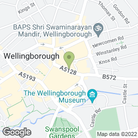 Map of Wellingborough Bargain Booze in Wellingborough, northamptonshire