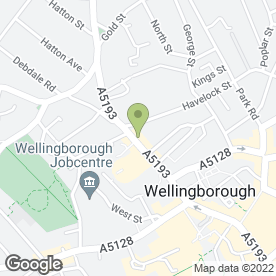 Map of PSJ Physiotherapy in Wellingborough, northamptonshire