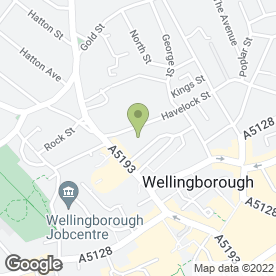 Map of Broad Green Wellingborough in Wellingborough, northamptonshire