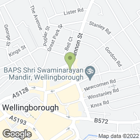 Map of AJ's Hair & Beauty Salon in Wellingborough, northamptonshire