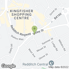 Map of China Gardens in Redditch, worcestershire