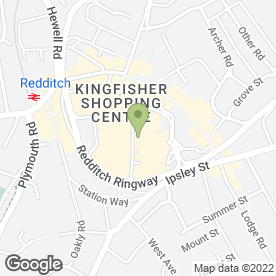 Map of The Kingfisher Shopping Centre in Redditch, worcestershire