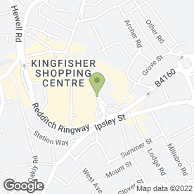 Map of Enhance Nails & Beauty in Redditch, worcestershire