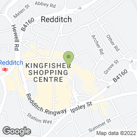 Map of Vodafone Ltd in Redditch, worcestershire