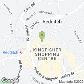 Map of Fishermans Catch in Redditch, worcestershire