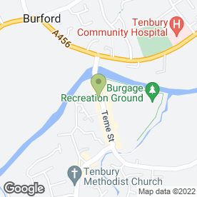 Map of Soap Opera in Tenbury Wells, worcestershire