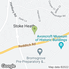 Map of M & T MINI COACHES in Stoke Heath, Bromsgrove, worcestershire