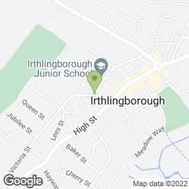 Map of Green Star Driving School in Irthlingborough, Wellingborough, northamptonshire
