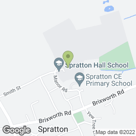Map of Spratton Hall School in Spratton, Northampton, northamptonshire