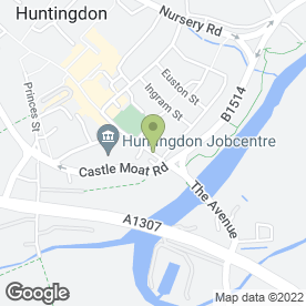 Map of JTD Services Ltd in Huntingdon, cambridgeshire