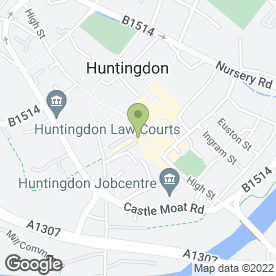 Map of Gathercole & Ward in Huntingdon, cambridgeshire