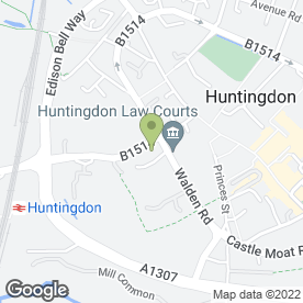 Map of Leeds Day Solicitors in Huntingdon, cambridgeshire
