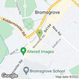 Map of KSH Carpet & Flooring in Bromsgrove, worcestershire