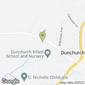 Map of G. James in Dunchurch, Rugby, warwickshire
