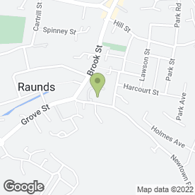 Map of Saxon Hall in Raunds, Wellingborough, northamptonshire