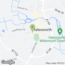 Map of Rosedale Funeral Home in Halesworth, suffolk