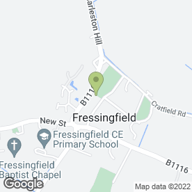 Map of The Fox & Goose Inn in Fressingfield, Eye, suffolk
