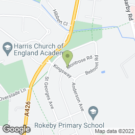 Map of Craig Stringer Carpentry in Rugby, warwickshire