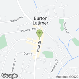 Map of BURTON INN in Burton Latimer, Kettering, northamptonshire