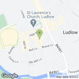 Map of Ludlow Spa Tanning & Beauty in Shropshire, Ludlow, shropshire