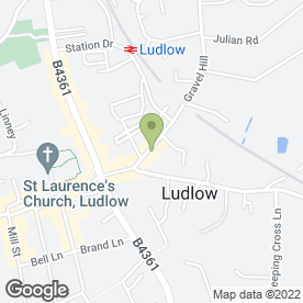 Map of Ludlow Fishbar & Restaurant in Ludlow, shropshire