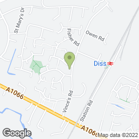Map of Treadfirst Tyre & Exhaust Centre in Diss, norfolk