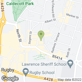 Map of Rugby Post Office in Rugby, warwickshire