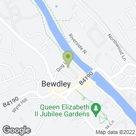 Map of Bewdley Medical Practice in Bewdley, worcestershire