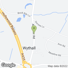Map of Wythall Heating Services in Wythall, Birmingham, west midlands