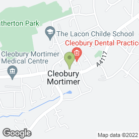 Map of Masquerade Fabrics in Cleobury Mortimer, Kidderminster, worcestershire