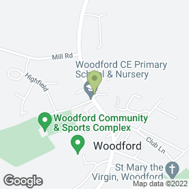 Map of ROSE COTTAGE in Woodford, Kettering, northamptonshire