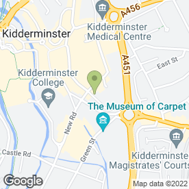 Map of DWT Legal Ltd in Kidderminster, worcestershire