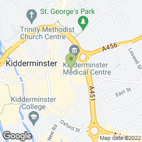 Map of Murdochs Wine Bar in Kidderminster, worcestershire