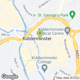 Map of Derrick T Prescott & Co in Kidderminster, worcestershire